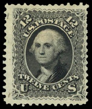 Value of US Stamps Scott Cat. # 107: 12c 1875 Washington Without Grill. Daniel Kelleher Auctions, Dec 2014, Sale 661, Lot 110