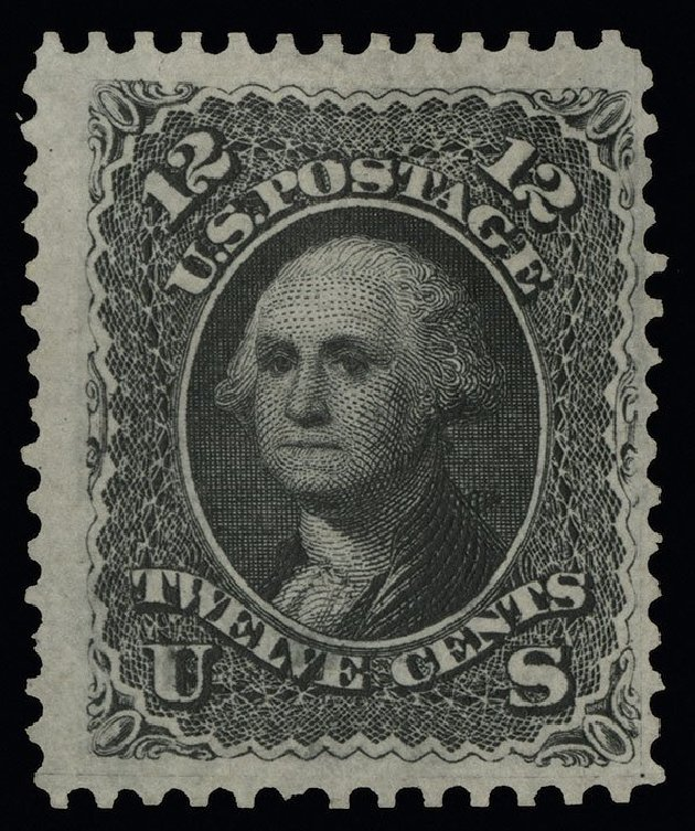 Values of US Stamp Scott 107: 12c 1875 Washington Without Grill. Spink Shreves Galleries, Aug 2013, Sale 144, Lot 151