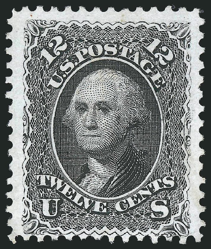 Cost of US Stamp Scott Catalog 107 - 12c 1875 Washington Without Grill. Robert Siegel Auction Galleries, Dec 2012, Sale 1037, Lot 1644