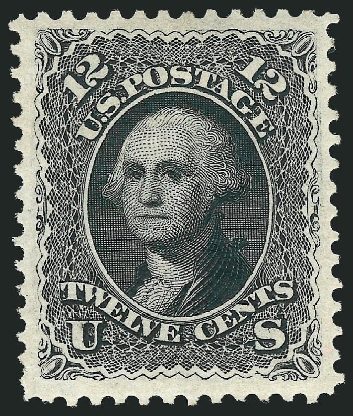 Value of US Stamps Scott Cat. #107: 1875 12c Washington Without Grill. Robert Siegel Auction Galleries, Mar 2013, Sale 1040, Lot 1354