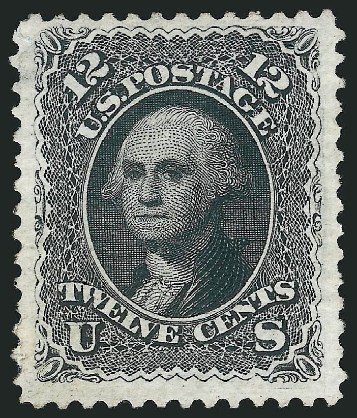Costs of US Stamp Scott 107 - 1875 12c Washington Without Grill. Robert Siegel Auction Galleries, Mar 2014, Sale 1067, Lot 1094