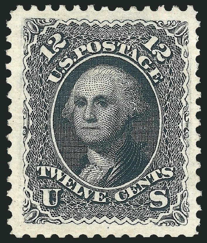 Value of US Stamp Scott Catalog 107 - 12c 1875 Washington Without Grill. Robert Siegel Auction Galleries, Nov 2013, Sale 1057, Lot 672