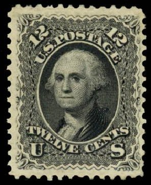 Cost of US Stamps Scott Catalog #107: 12c 1875 Washington Without Grill. Daniel Kelleher Auctions, Sep 2013, Sale 639, Lot 3213