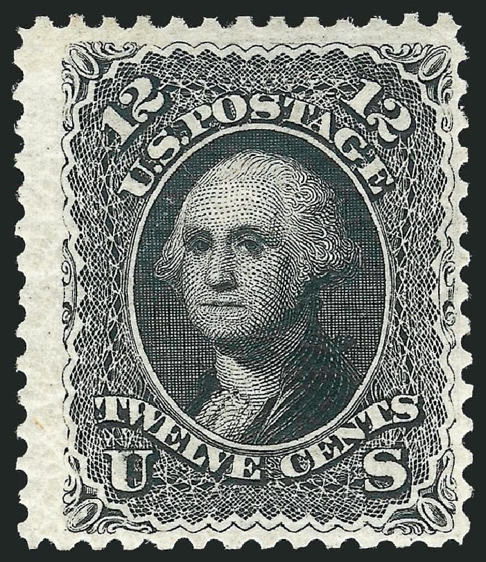 US Stamps Values Scott Catalog # 107 - 12c 1875 Washington Without Grill. Robert Siegel Auction Galleries, Dec 2012, Sale 1037, Lot 1643