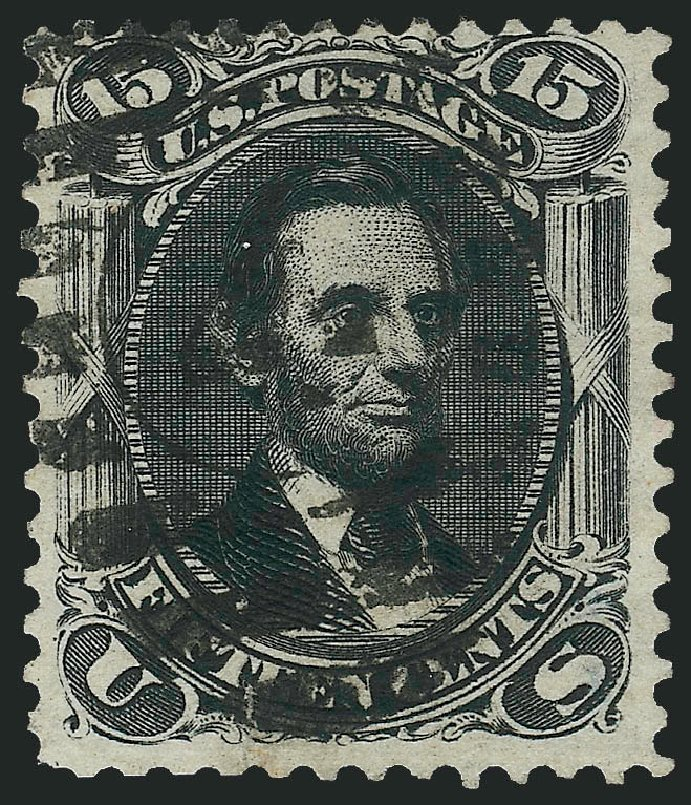 Values of US Stamps Scott Cat. # 108: 1875 15c Lincoln Without Grill. Robert Siegel Auction Galleries, Jun 2015, Sale 1100, Lot 27