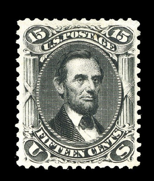 US Stamp Price Scott Cat. 108: 15c 1875 Lincoln Without Grill. Spink Shreves Galleries, May 2014, Sale 148, Lot 150