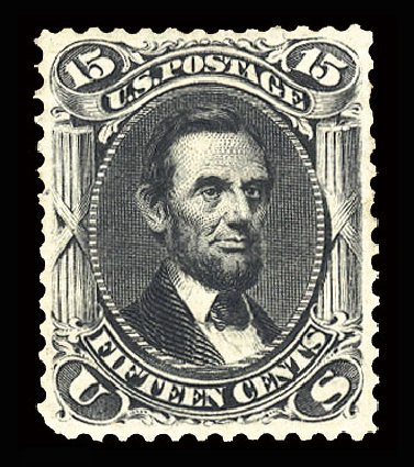 US Stamps Values Scott Catalogue # 108 - 15c 1875 Lincoln Without Grill. Cherrystone Auctions, May 2015, Sale 201505, Lot 14