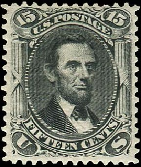Values of US Stamps Scott Catalogue #108 - 15c 1875 Lincoln Without Grill. Regency-Superior, Aug 2015, Sale 112, Lot 232