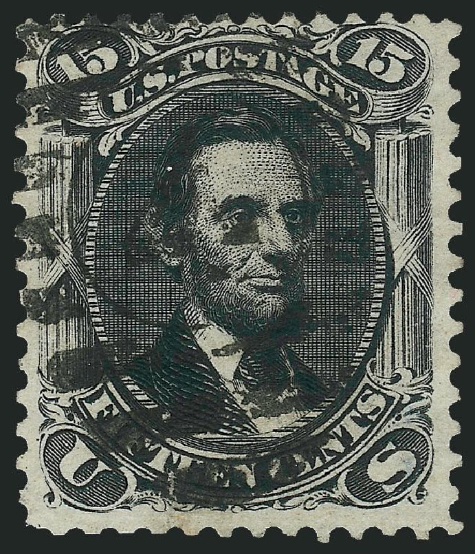 Cost of US Stamps Scott # 108 - 15c 1875 Lincoln Without Grill. Robert Siegel Auction Galleries, Dec 2014, Sale 1090, Lot 1252