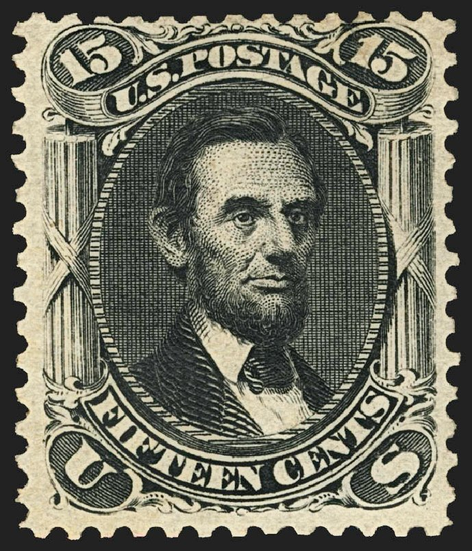 Price of US Stamps Scott 108: 15c 1875 Lincoln Without Grill. Robert Siegel Auction Galleries, Jul 2015, Sale 1107, Lot 223