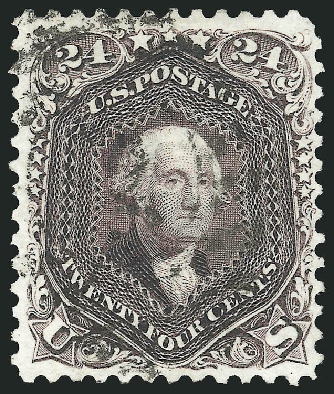 US Stamp Prices Scott # 109: 24c 1875 Washington Without Grill. Robert Siegel Auction Galleries, Nov 2014, Sale 1084, Lot 3307