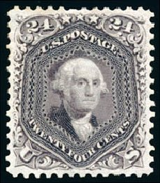 Value of US Stamps Scott 109: 1875 24c Washington Without Grill. Schuyler J. Rumsey Philatelic Auctions, Apr 2015, Sale 60, Lot 2078