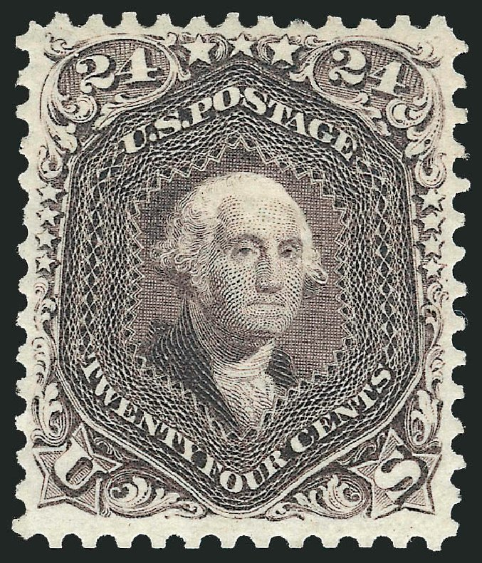 Prices of US Stamps Scott #109: 1875 24c Washington Without Grill. Robert Siegel Auction Galleries, Jun 2015, Sale 1100, Lot 28
