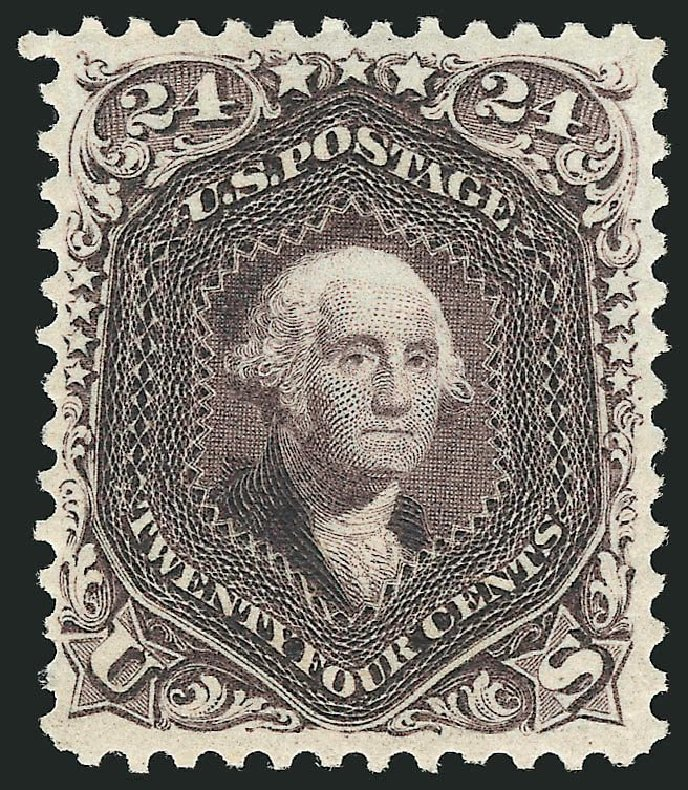 Price of US Stamps Scott Cat. # 109: 1875 24c Washington Without Grill. Robert Siegel Auction Galleries, Sep 2014, Sale 1078, Lot 215