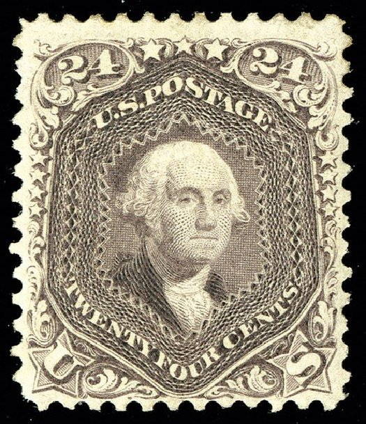 US Stamps Price Scott Cat. # 109 - 1875 24c Washington Without Grill. Spink Shreves Galleries, May 2014, Sale 148, Lot 152