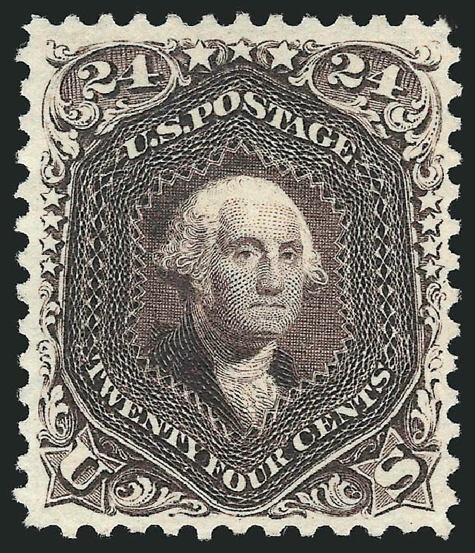 Value of US Stamps Scott 109 - 24c 1875 Washington Without Grill. Robert Siegel Auction Galleries, Sep 2014, Sale 1078, Lot 216