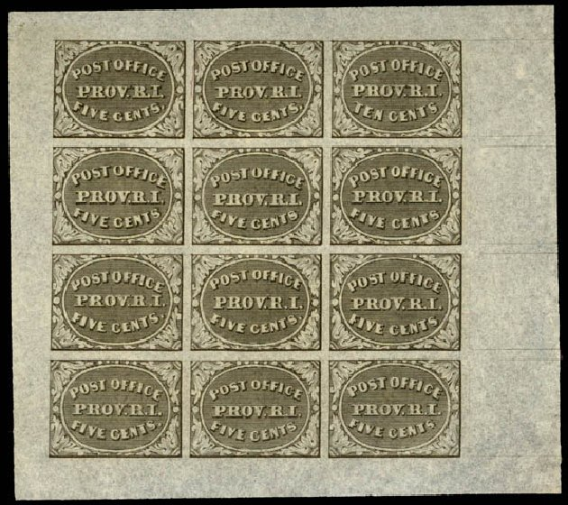 Costs of US Stamp Scott Catalogue # 10X2: 1846 5c Providence Postmasters Provisional. Daniel Kelleher Auctions, Sep 2013, Sale 639, Lot 3027