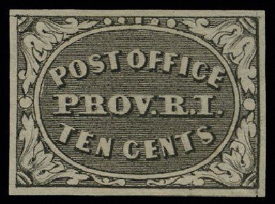 Costs of US Stamps Scott Catalog 10X2: 1846 5c Providence Postmasters Provisional. H.R. Harmer, May 2014, Sale 3005, Lot 1008