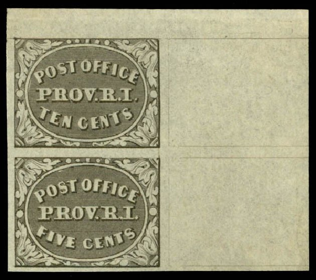 Costs of US Stamp Scott Catalogue #10X2: 1846 5c Providence Postmasters Provisional. Daniel Kelleher Auctions, Mar 2014, Sale 650, Lot 2501