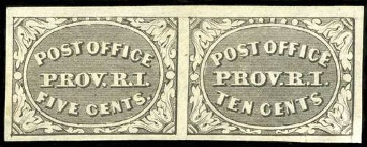US Stamp Price Scott Catalog 10X2 - 5c 1846 Providence Postmasters Provisional. Spink Shreves Galleries, Jul 2015, Sale 151, Lot 4