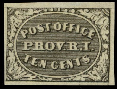 Prices of US Stamps Scott Catalogue #10X2 - 1846 5c Providence Postmasters Provisional. Daniel Kelleher Auctions, Sep 2013, Sale 639, Lot 3026