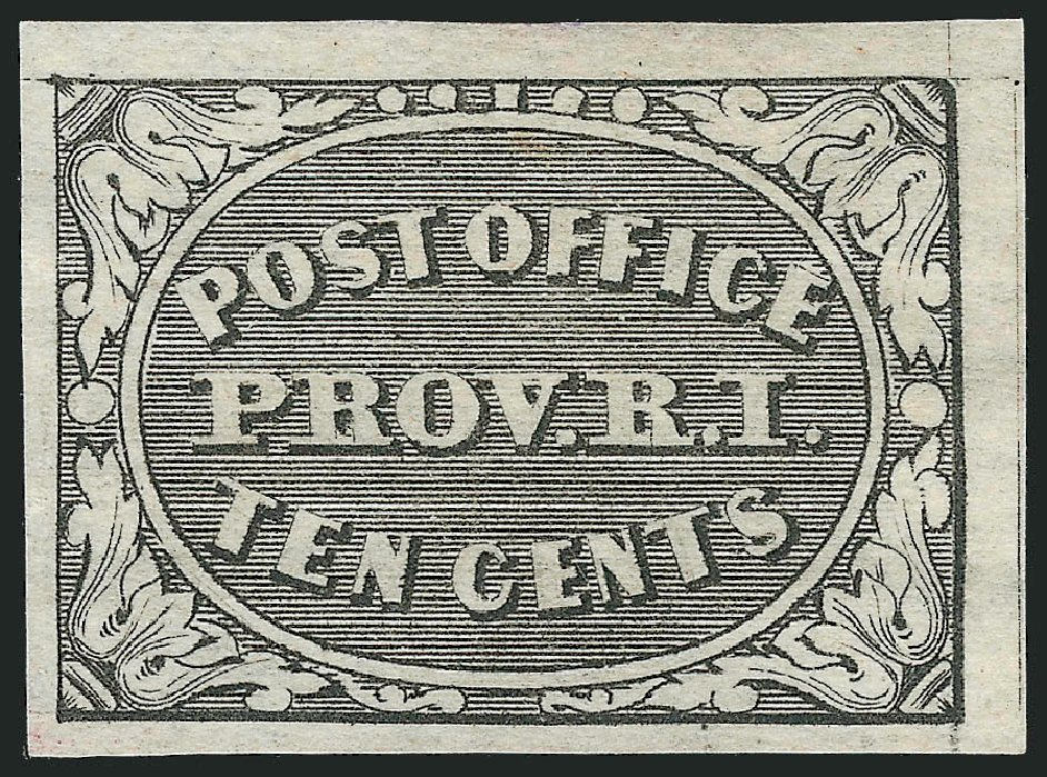 US Stamps Values Scott Cat. # 10X2: 1846 5c Providence Postmasters Provisional. Robert Siegel Auction Galleries, Nov 2013, Sale 1061, Lot 3316