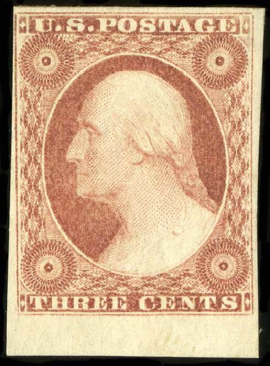 Price of US Stamp Scott Catalog #11 - 1851 3c Washington. Spink Shreves Galleries, Jul 2015, Sale 151, Lot 28