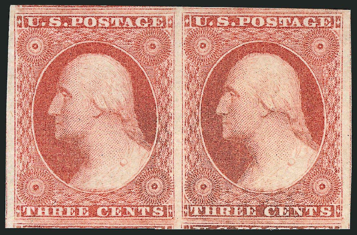 Us Stamps Value Scott Catalogue 11 1851 3c Washington