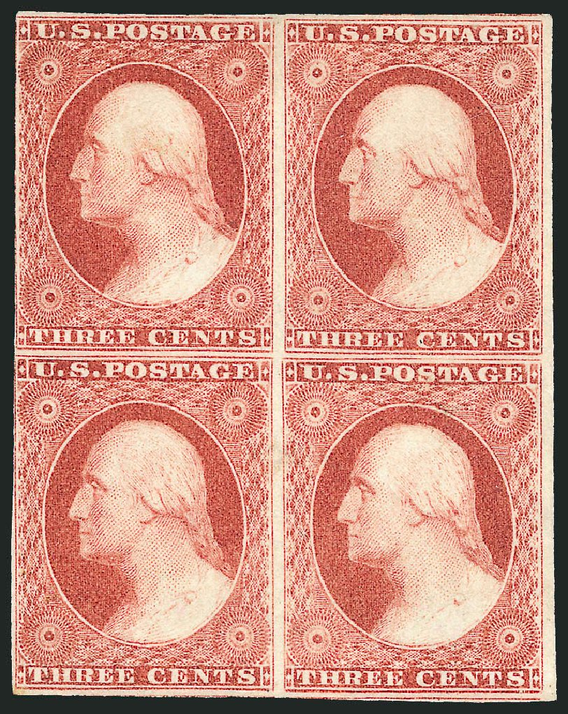 Prices of US Stamp Scott Cat. 11: 3c 1851 Washington. Robert Siegel Auction Galleries, Apr 2015, Sale 1096, Lot 24