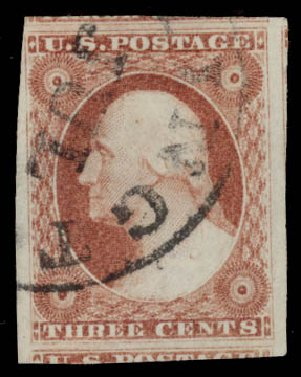 Price of US Stamps Scott 11: 3c 1851 Washington. Daniel Kelleher Auctions, May 2015, Sale 669, Lot 2395