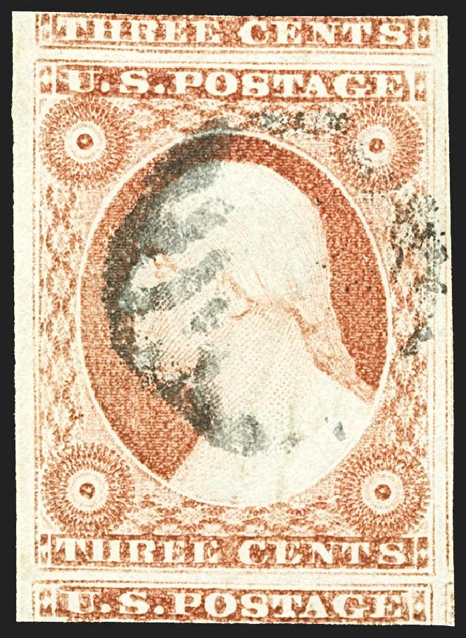 US Stamps Value Scott 11: 1851 3c Washington. Robert Siegel Auction Galleries, Jul 2015, Sale 1107, Lot 65