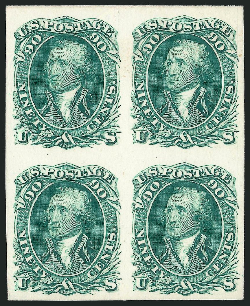 US Stamp Values Scott Catalogue #111: 90c 1875 Washington Without Grill. Robert Siegel Auction Galleries, Oct 2014, Sale 1082, Lot 87