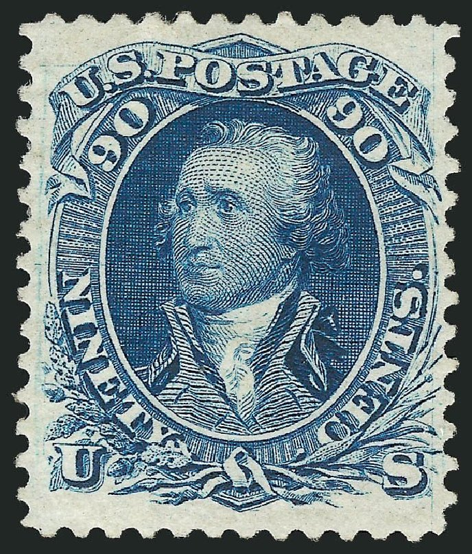 Cost of US Stamp Scott Cat. # 111 - 90c 1875 Washington Without Grill. Robert Siegel Auction Galleries, Mar 2014, Sale 1067, Lot 1098