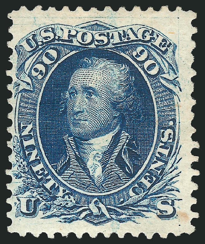 US Stamp Price Scott 111: 90c 1875 Washington Without Grill. Robert Siegel Auction Galleries, Feb 2015, Sale 1092, Lot 1078