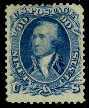 Cost of US Stamps Scott 111: 90c 1875 Washington Without Grill. Daniel Kelleher Auctions, Sep 2013, Sale 639, Lot 389