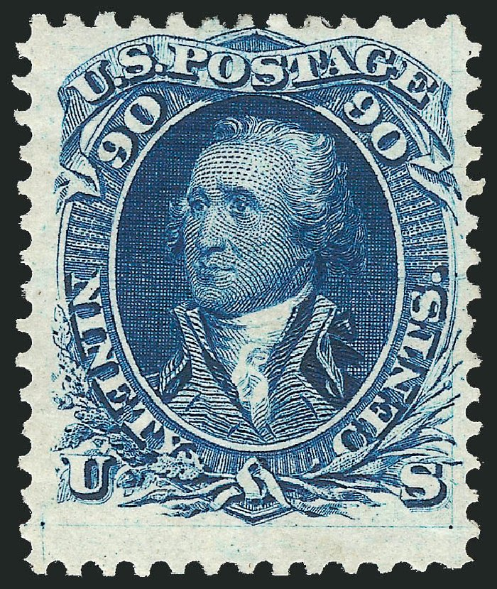 Prices of US Stamps Scott Catalog # 111: 90c 1875 Washington Without Grill. Robert Siegel Auction Galleries, Dec 2012, Sale 1037, Lot 1650