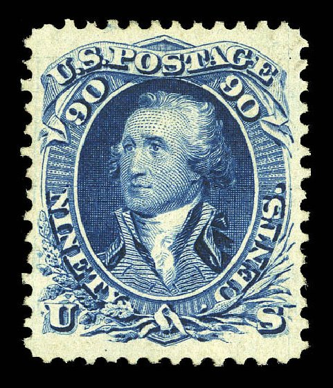 US Stamps Value Scott 111: 1875 90c Washington Without Grill. Matthew Bennett International, Sep 2012, Sale 346, Lot 711