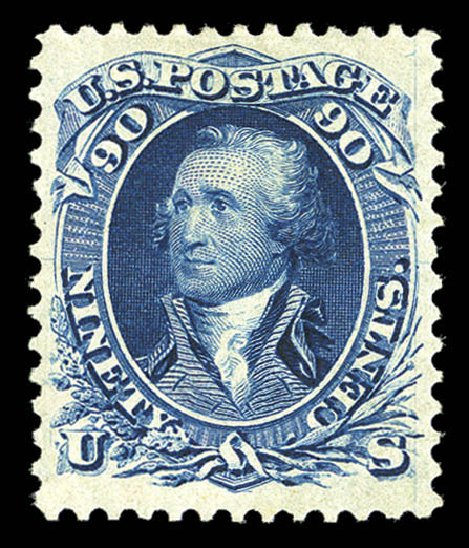 Cost of US Stamp Scott Catalog # 111 - 90c 1875 Washington Without Grill. Matthew Bennett International, Sep 2012, Sale 345, Lot 144