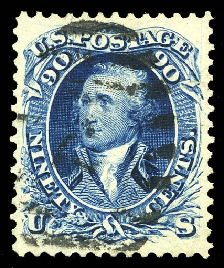 US Stamps Price Scott Cat. 111 - 1875 90c Washington Without Grill. Matthew Bennett International, Feb 2015, Sale 351, Lot 93