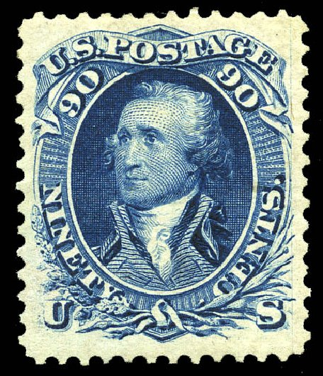 Price of US Stamps Scott Cat. # 111: 1875 90c Washington Without Grill. Matthew Bennett International, May 2014, Sale 350, Lot 196