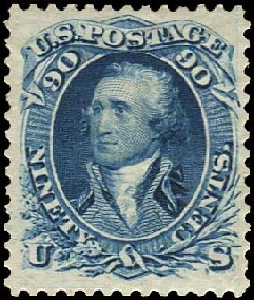 US Stamps Price Scott 111: 90c 1875 Washington Without Grill. Regency-Superior, Aug 2015, Sale 112, Lot 236
