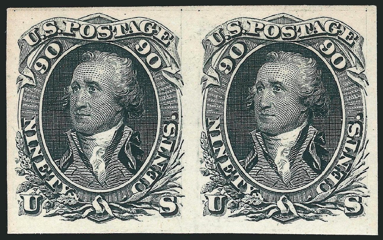 US Stamp Values Scott Catalog #111 - 90c 1875 Washington Without Grill. Robert Siegel Auction Galleries, Oct 2014, Sale 1082, Lot 86