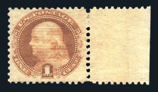 Prices of US Stamps Scott Cat. # 112: 1869 1c Pictorial Franklin. Harmer-Schau Auction Galleries, Aug 2015, Sale 106, Lot 1457