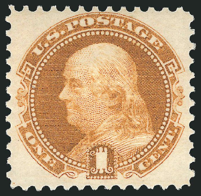 Price of US Stamp Scott Catalog #112: 1869 1c Pictorial Franklin. Robert Siegel Auction Galleries, Feb 2015, Sale 1092, Lot 1080