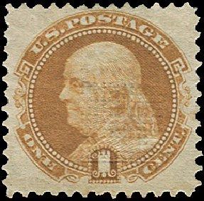 US Stamp Values Scott Cat. #112 - 1c 1869 Pictorial Franklin. Regency-Superior, Aug 2015, Sale 112, Lot 241