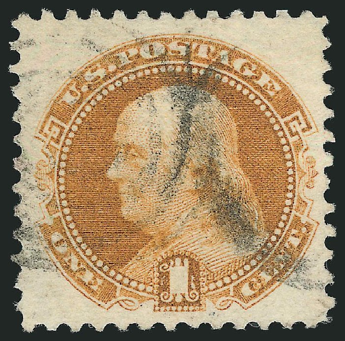 Cost of US Stamps Scott #112 - 1869 1c Pictorial Franklin. Robert Siegel Auction Galleries, Feb 2015, Sale 1092, Lot 1081