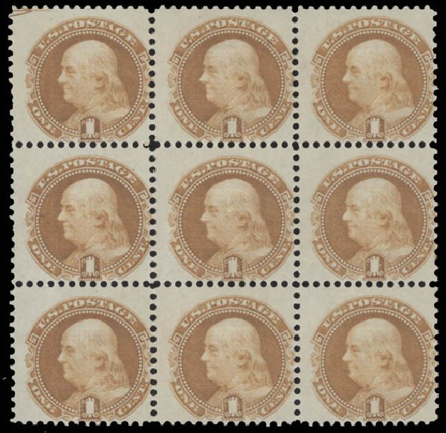 Values of US Stamp Scott #112: 1869 1c Pictorial Franklin. Daniel Kelleher Auctions, Aug 2015, Sale 672, Lot 2334