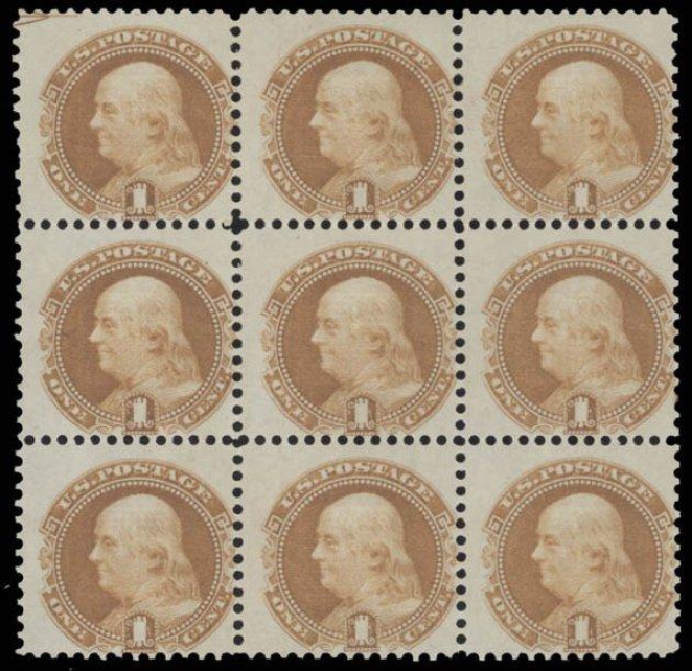 Values of US Stamp Scott #112: 1869 1c Pictorial Franklin. Daniel Kelleher Auctions, Aug 2015, Sale 672, Lot 2334