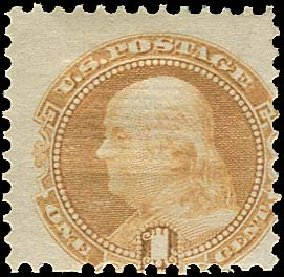 US Stamp Prices Scott Cat. #112: 1869 1c Pictorial Franklin. Regency-Superior, Aug 2015, Sale 112, Lot 242