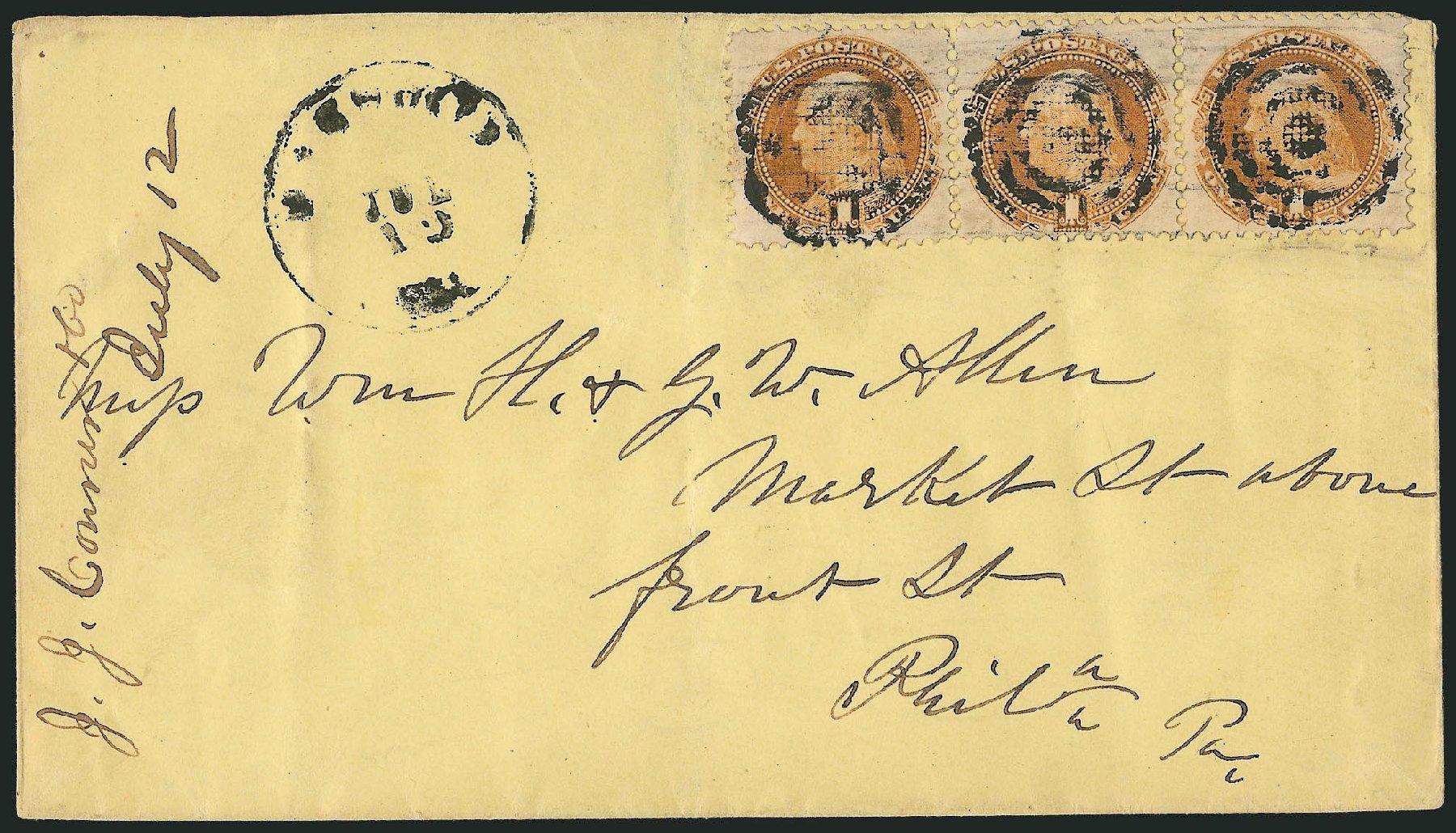 US Stamps Values Scott Catalogue # 112 - 1c 1869 Pictorial Franklin. Robert Siegel Auction Galleries, Jun 2015, Sale 1105, Lot 2612